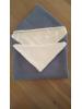 Omslagdoek oud blauw met wit