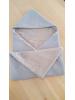 Omslagdoek oud blauw en grijs