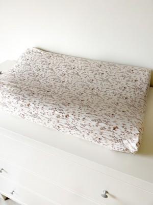 Aankleedkussenhoes bruine droogbloemen