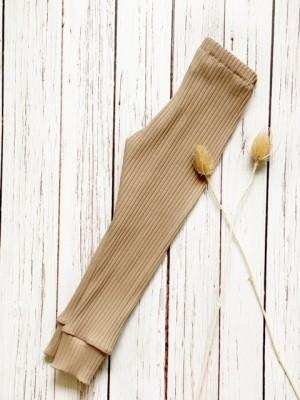 legging almond brede rib