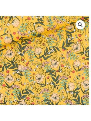 Summer Flowers - S - Lycra - Dooiergeel
