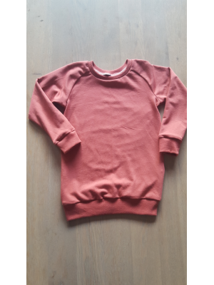 sweater dress marsala rood