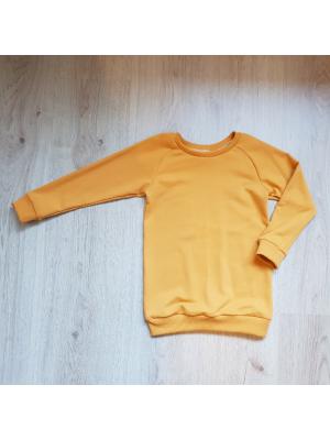 sweater dress oker geel