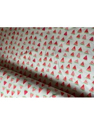 watermeloen About blue fabrics